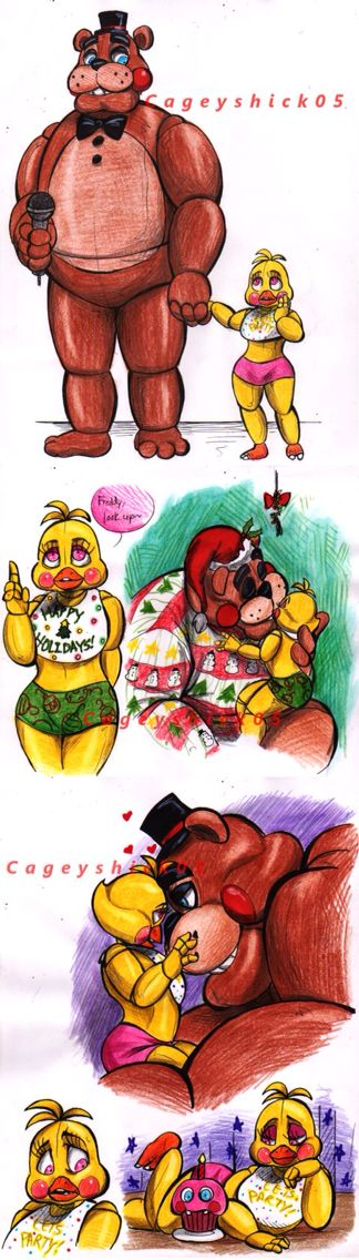 Five Nights at Freddy's Toy chica and Toy Freddy Christmas!