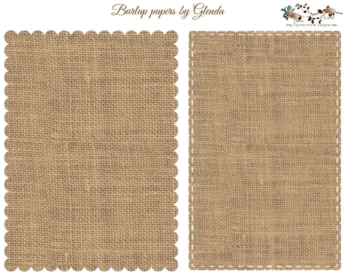 Five by Seven Stitched and Burlap Papers by Glenda Free-download
