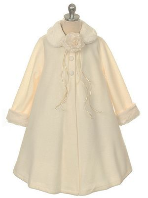 Cozy coat. Perfect with any flower girl dress.  http://www.justuniqueboutique.com/adorable-fleece-coat-for-flower-girl.html