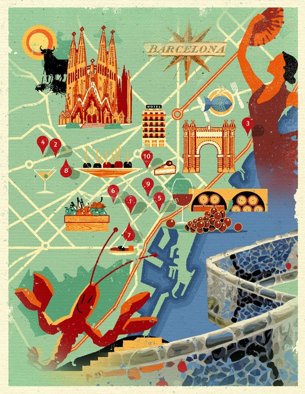 :: Map of Barcelona by Dieter Braun ::
