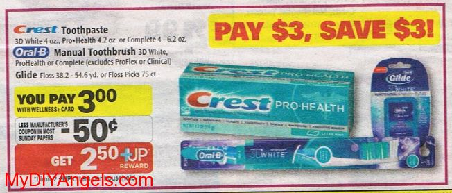 Free Crest Toothpaste, Oral-B Toothbrushes or Oral B Glide Floss at Rite Aid! | MY DIY ANGELS, DIY and Extreme Couponers