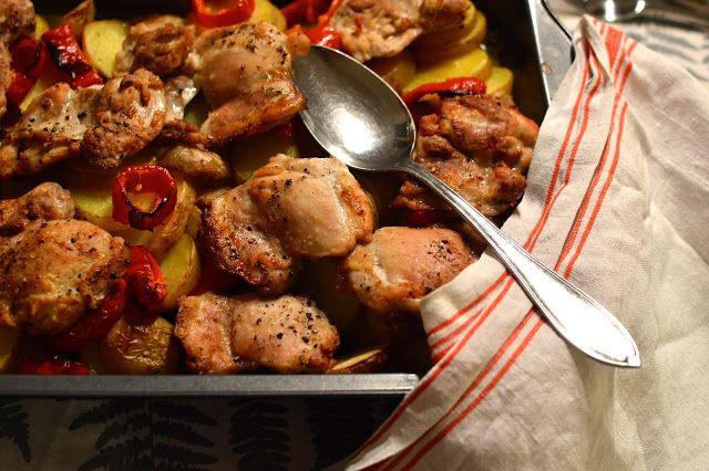 Viikonloppukokki: Sitruunaista kananpoikaa perunapedillä