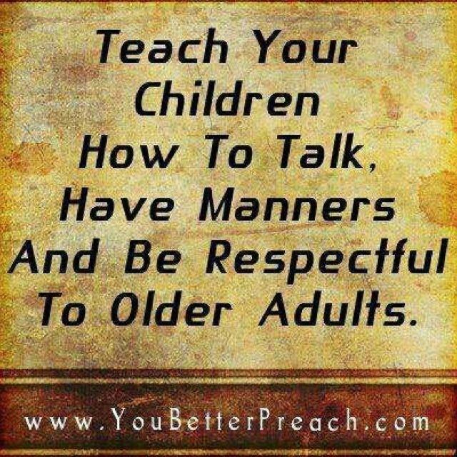 Teaching Children to Respect Their Elders