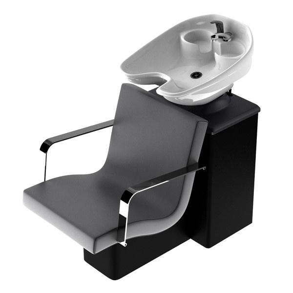 Friseur Rückwärtswaschbecken Amir mit Chrom Armlehnen  - günstig bei Friseurzubehör24.de // Sie interessieren sich für dieses Produkt