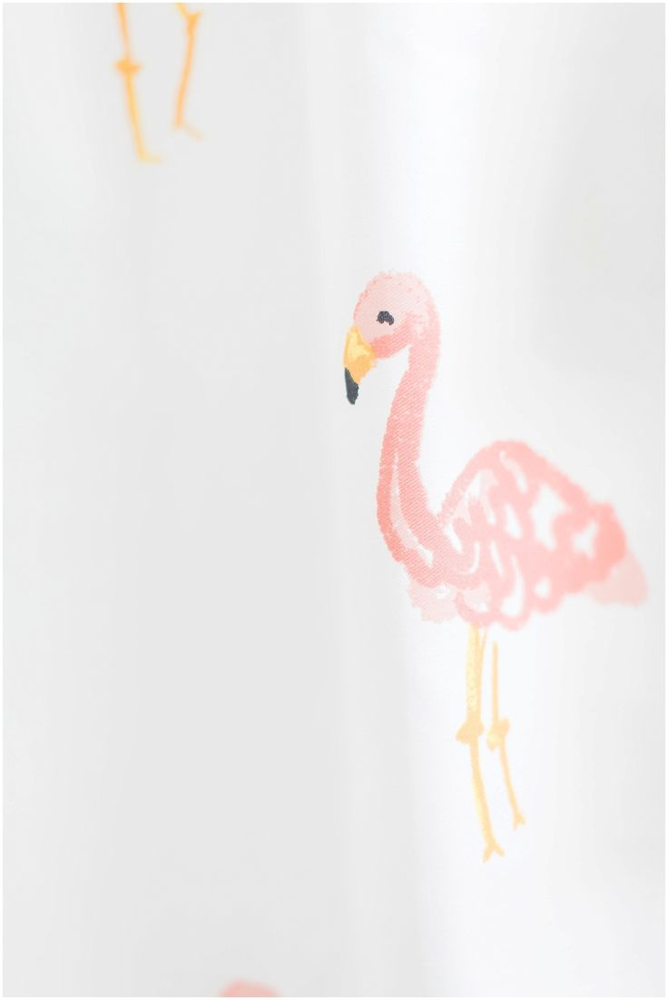 Master Bathroom Pink Flamingo Shower Curtain in Bathroom Renovation