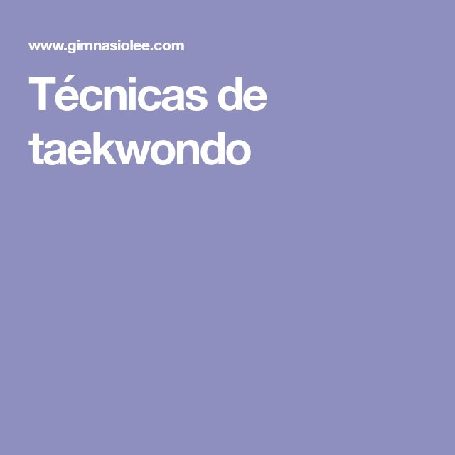 Técnicas de taekwondo