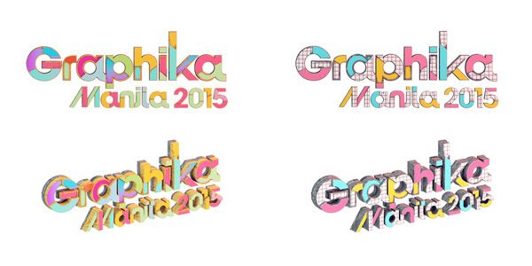 Aram asked us to keep the same logo design for Graphika Manila but add our own twist to it based on the art direction that we've been working on. So we disected the logo and added textures and colors to make it more festive!