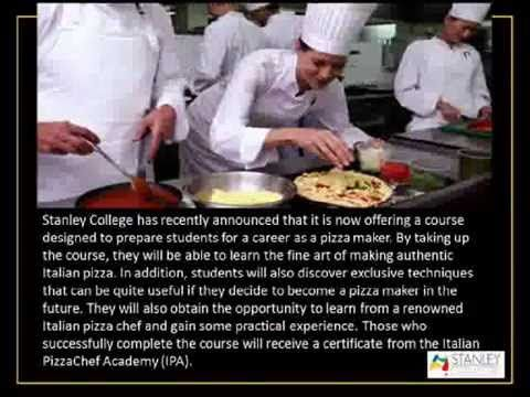 Pizza Making Course at Stanley College - YouTube