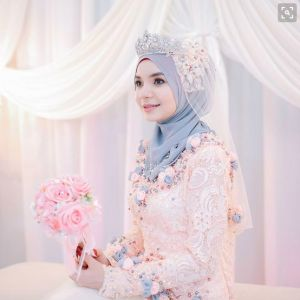 referensi gaun pengantin hijab