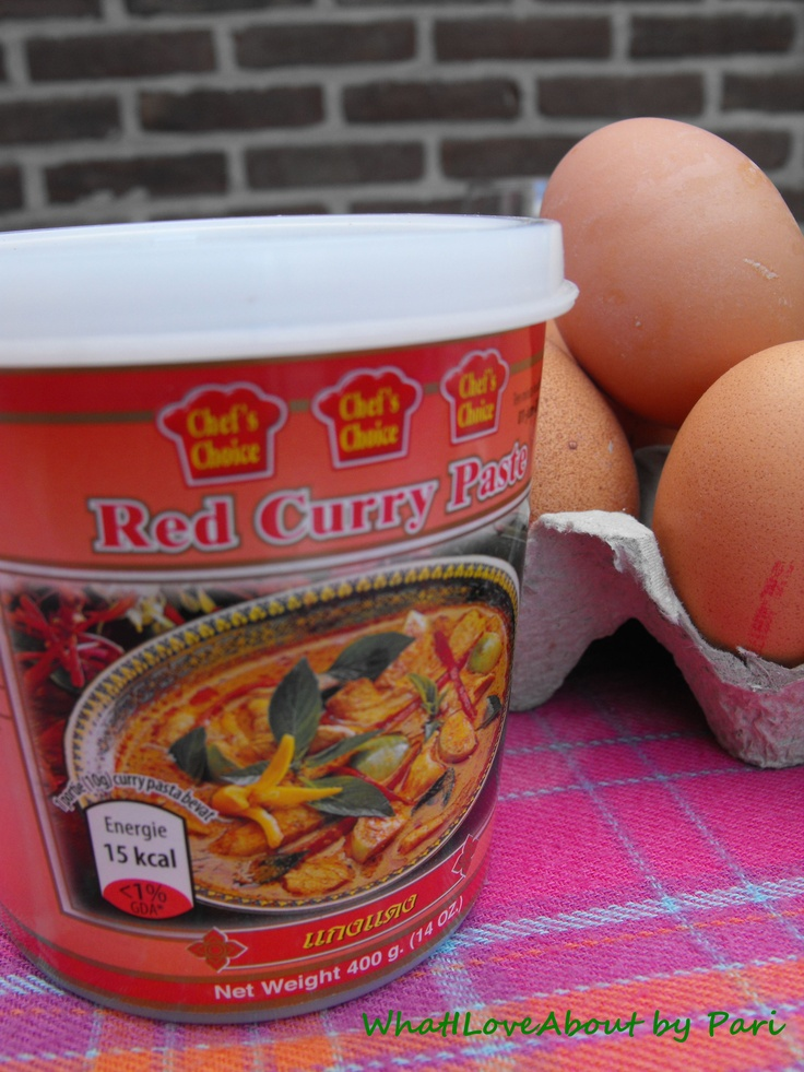 Red Curry Paste, just 2-3 table spoon is sufficient.