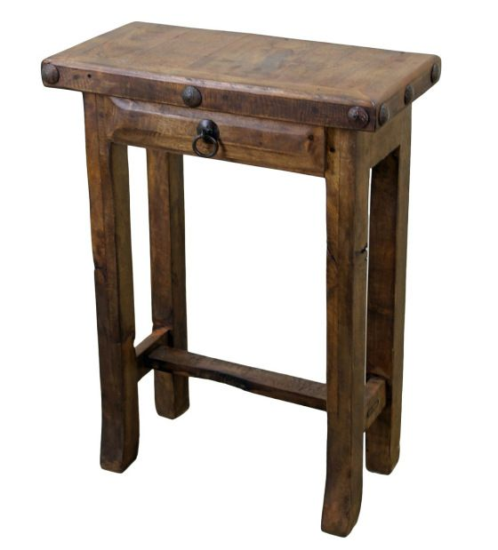 Mesquite Wood Simple Side Table. 17 Best images about Mexican Furniture on Pinterest   Leather