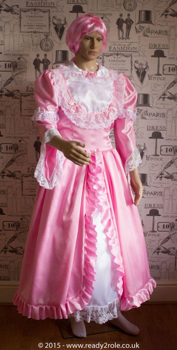 """Sissy Dress """"The Princess Belle"""" Full Length & Full of Frills and Ruffles"""