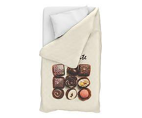 Trapuntino singolo in cotone Chocolate - 170x270 cm