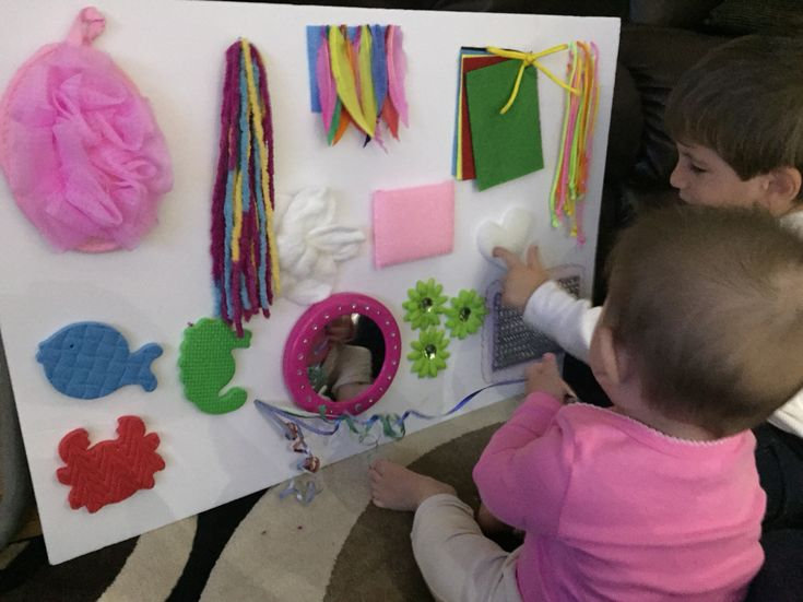 Sensory board DIY 6 month old baby                                                                                                                                                                                 More