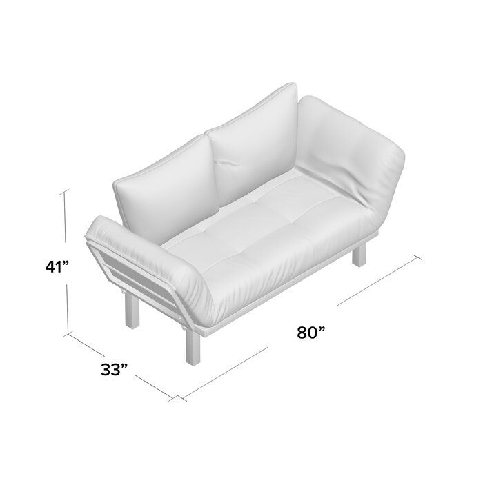 Everett Twin 60 Wide Loose Back Futon And Mattress Futon Modern Convertible Sofa Futon Chair Bed Cheap futons with mattress included