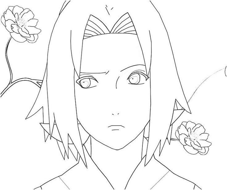 Naruto Coloring Pages Sakura Anime Pinterest Colorao