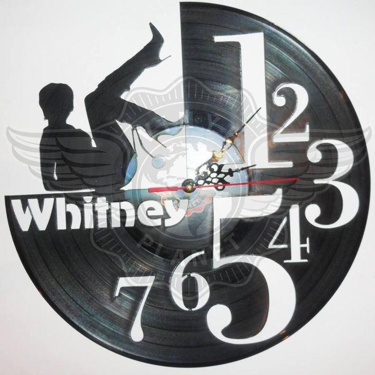 VINYL PLANET Wall Clock WHITNEY HOUSTON Home Record Unique Decor upcycled 12''
