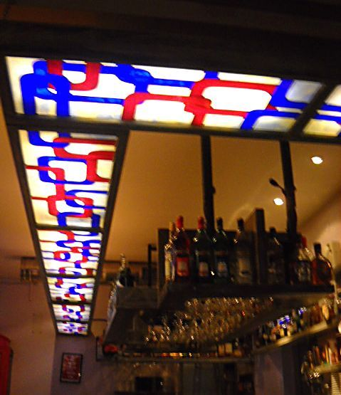 Stained glass ceiling lighting