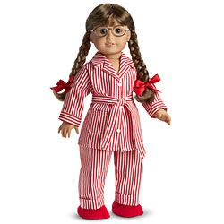 Molly American Girl doll.... I have her PJs still and she is in them right now