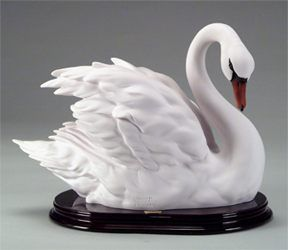 "Florence Sculpture ""Swan with semi-closed wings"" 1845/S H cm 20 = 8"""