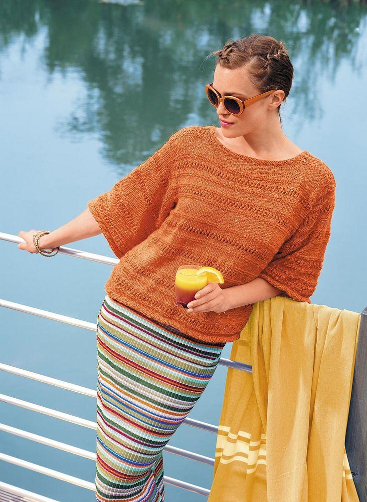 Ravelry: 28 Lace Sweater - Pull Ajouré pattern by Bergère de France