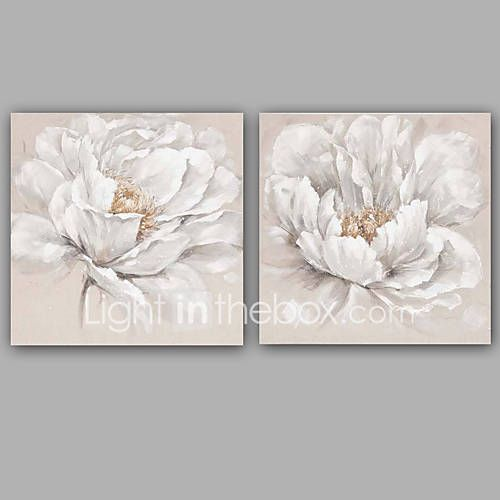 Pictat manual Abstract Floral/Botanic Picturi de ulei,Clasic Stil European Două Panouri Canava Hang-pictate pictură în ulei For Pagina de 5484852 2017 – €106.30