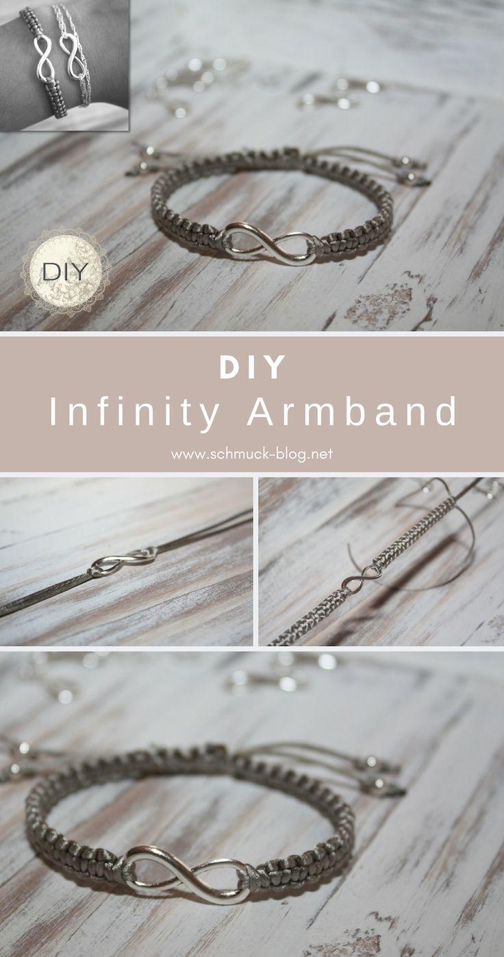 DIY Infinity Armband mit Unendlichkeitssymbol selber basteln mit dieser einfachen Anleitung #schmuck #diy