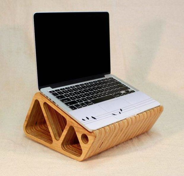 a laptop stand out of plywood