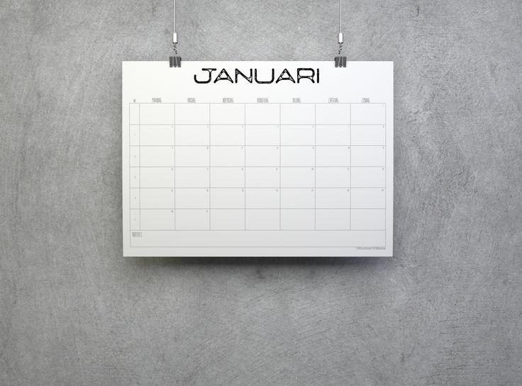 Kalender 2017 - Industrieel Deze nieuwe eenvoudige kalender 2017 is weer GRATIS te downloaden. Download hem nu!