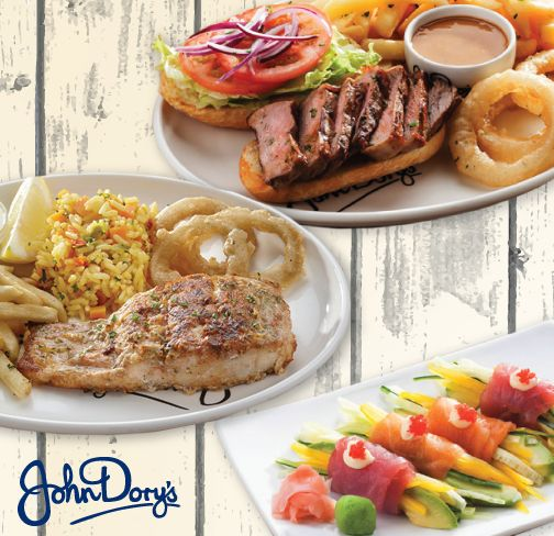 Which fine John Dory's speciality sinks your soul?  Our catchy Fish dishes, Grills made the JD's way or expertly rolled Sushi?