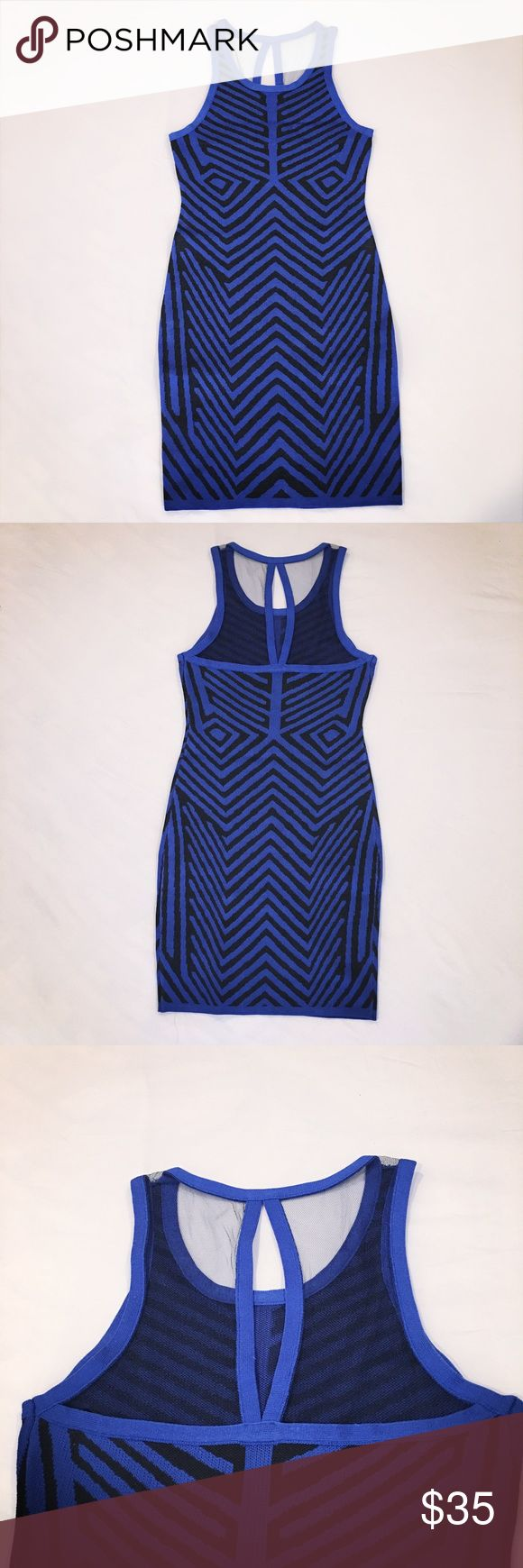 Blue bodycon dress - 2b Bebe This bodycon dress in a smooth fit that brings out every curve. This is brand new. Tags still on. Dresses Mini