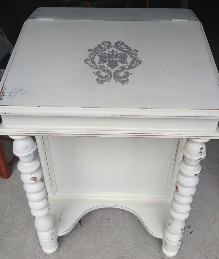 Provincial styled writing desk.