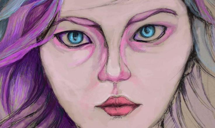"""My Blue Eyed"", (Detail)"