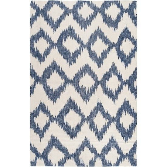 Ikat wool rug  navy  Area Rugs and Carpet  Pinterest