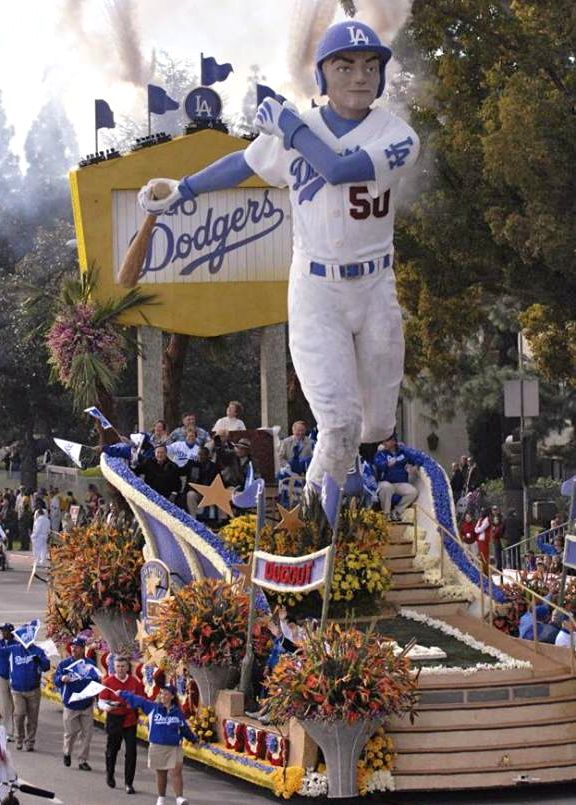THE ONLY WAY THE DODERS GET TO BE IN A PARADE...Dodgers Rose Parade Float...