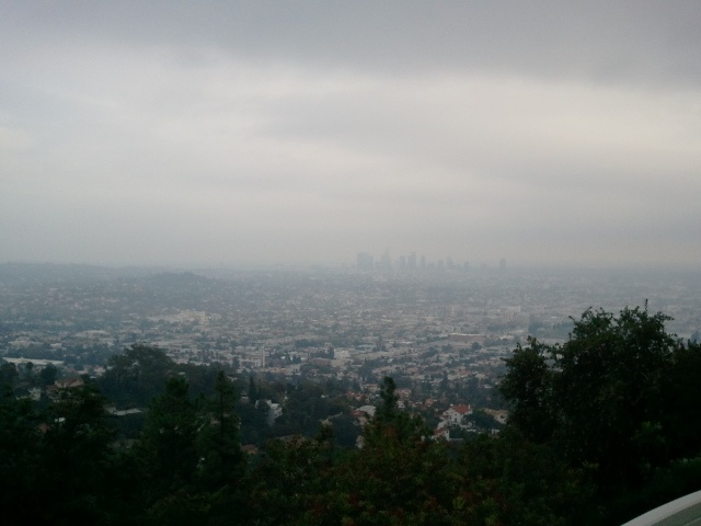 [Griffith Observatory]  I looked down at the town.