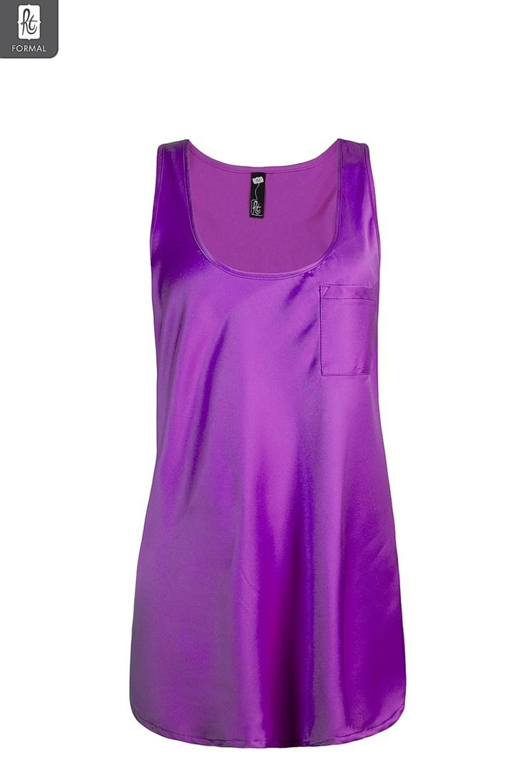 Ladies Drapey Pocket Detail Tank | New In