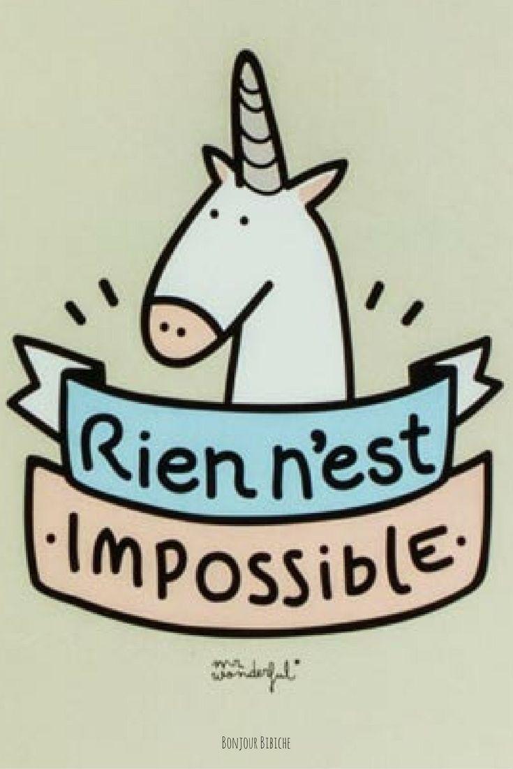 Rien n'est impossible. Parole de licorne. Retrouvez les mignonneries de la marque Mr Wonderful sur l'eshop déco & cadeaux de @bonjourbibiche ! :)