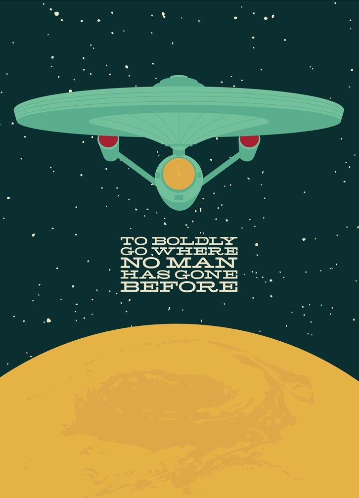 Boldly going where no one has gone before!