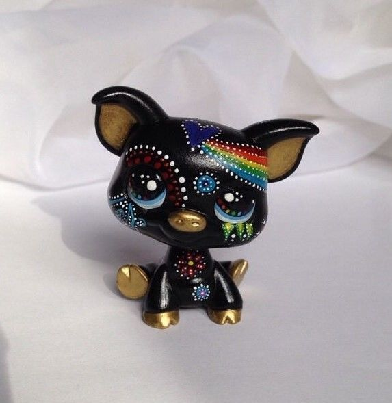 Littlest pet shop * Doodle Dot Pig * Custom Hand Painted LPS OOAK #Hasbro