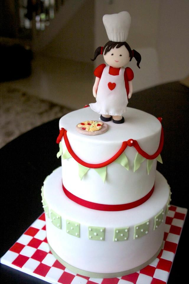 Cake Decorating Chefs : Pizza Birthday Cake by Cakes by Sharon chef party ideas ...