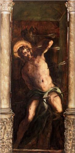 St Sebastian (1581) - Tintoretto. Oil on Canvas. Location: Scuola Grande di San Rocco.