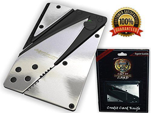 24 HOUR BLOWOUT SALE Credit Card Wallet Knife Holtzman's- Great Mini Sized Utility Folding Pocket knife & Survival Tool, Razor Sharp, Durable, Stainless Steel 100% Lifetime Guarantee You'll Love It!! CUT IT CARD http://www.amazon.com/dp/B01C6U471E/ref=cm_sw_r_pi_dp_KCP2wb19B28G7