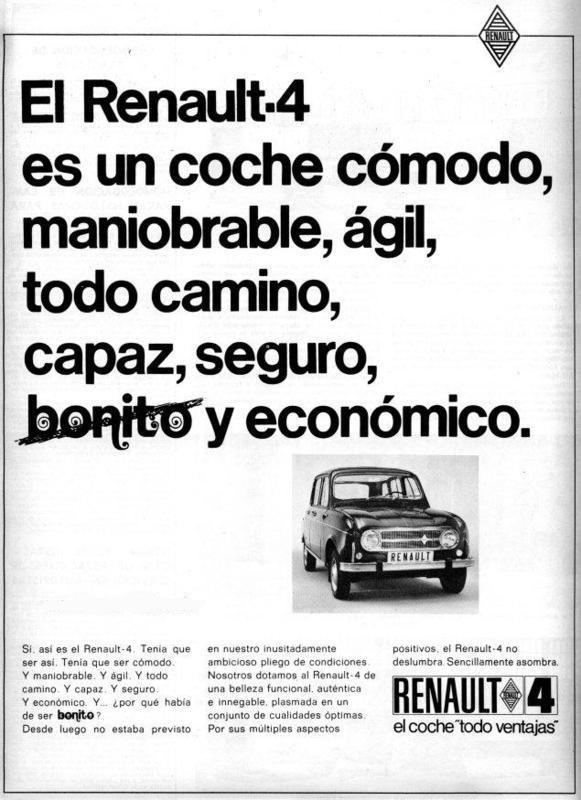 """Renault 4 """"cómodo, ágil, todo camino, bonito..""""  Cambio e-shop por Renault 4 en regla"""