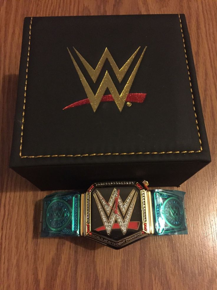 WWE World Heavyweight Championship Belt Watch Wrestling Belt W/box Wwf - http://bestsellerlist.co.uk/wwe-world-heavyweight-championship-belt-watch-wrestling-belt-wbox-wwf/