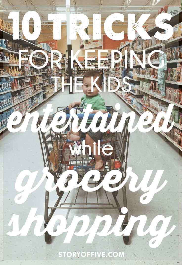 10 Tricks for Keeping the Kids Entertained while Grocery Shopping. Click to read or pin and save for later.