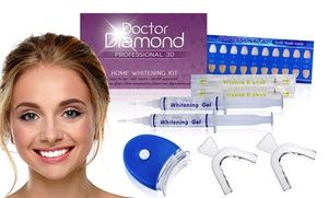 At-home teeth-whitening kit designed to produce professional-quality results for a whiter and brighter smile
