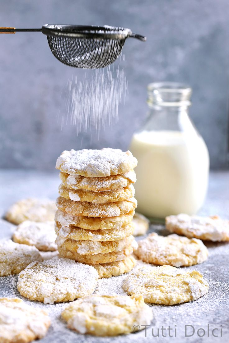 Rolled in powdered sugar and perfumed with sweet citrus, these soft and buttery meyer lemon crinkle cookies are perfect for any lemon dessert lover.