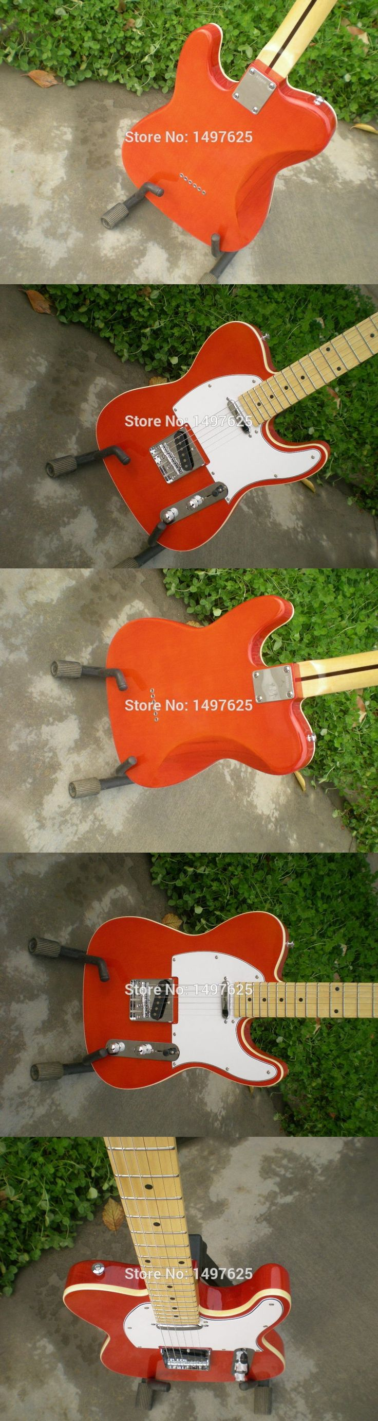 Free shipping Wholesale new tl electric orange color oem guitar guitar in china