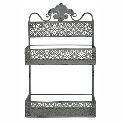 wall mounted 2 tier metal vertical mail holder letter holder shabby green home black white home office cococozy 5